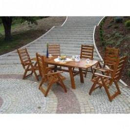 Rojaplast Rustika rozkládací Stoly na zahradu