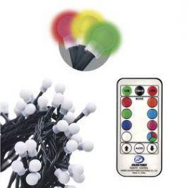 EMOS 96 LED 10m, řetěz – kuličky, červ./zel./mod., ovladač, programy (1534216300) Osvětlení