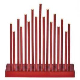 EMOS červený svícen, 3×AA, teplá bílá, časovač (1534210900)