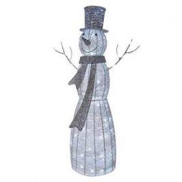 EMOS vánoční sněhulák ratanový, 124cm, vnitřní, studená bílá, časovač (1534212400) Osvětlení