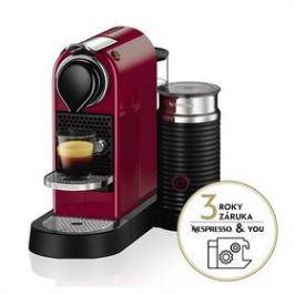 Krups Nespresso Citiz&Milk XN761510 červené Espressa a kávovar