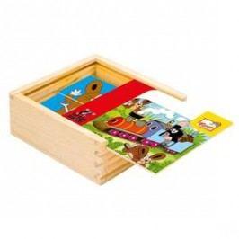 První skládanka BINO - Krtek Hračky ze dřeva