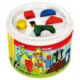 Kostky v kbelíku BINO - Krtek Hračky ze dřeva