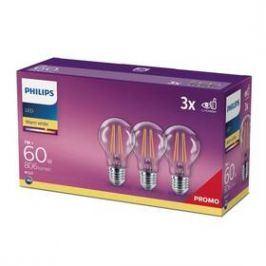 Philips klasik, 7W, E27, teplá bílá (3ks) (8718699665081)