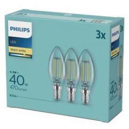 Philips svíčka, 4,3W, E14, teplá bílá (3ks) (8718699612337)