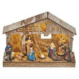 EMOS vánoční betlém, 19cm, 3× AA, teplá bílá, časovač (1534210100)