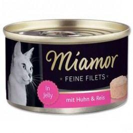Miamor Filet kuře + rýže v želé 100g Kočky
