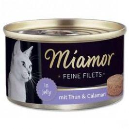Miamor Filet tuňák + kalamáry v želé 100g Kočky