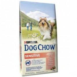 Purina Dog Chow Sensitive losos a rýže 14 kg