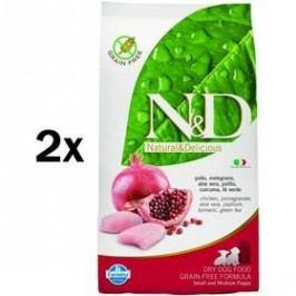 N&D Grain Free DOG Puppy S/M Chicken & Pomegr 2 x 12 kg