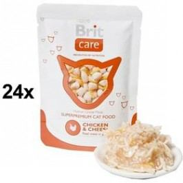 Brit Care Chicken & Cheese Pouch 24 x 80g
