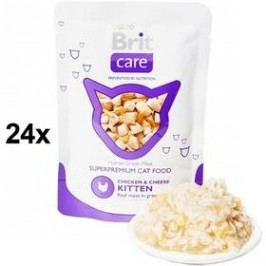 Brit Care KITTEN Chicken & Cheese Pouch 24 x 80g