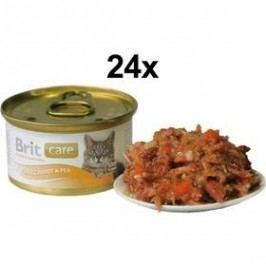 Brit Care Cat tuňák, mrkev & hrášek 24 x 80g