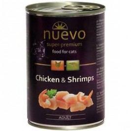 Nuevo Cat Adult kuře + krevety 400g