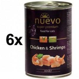 Nuevo Cat Adult kuře + krevety 6 x 400g