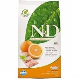 N&D Grain Free CAT Adult Fish & Orange 1,5 kg Kočky