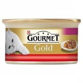 Gourmet Gold s hovězím a kuřetem 85g