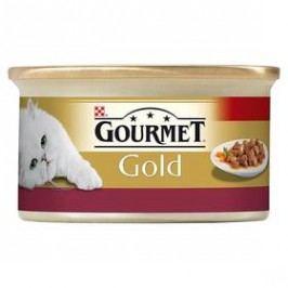Gourmet Gold s kuřecím a játry 85g