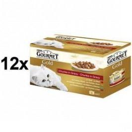 Gourmet Gold kousky ve šťávě Multipack 12 x (4 x 85g)