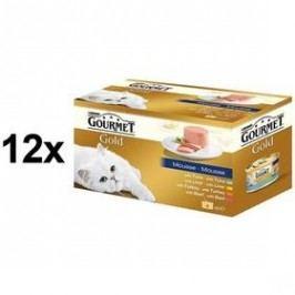 Gourmet Gold jemná paštika Multipack 12 x (4 x 85g) Kočky