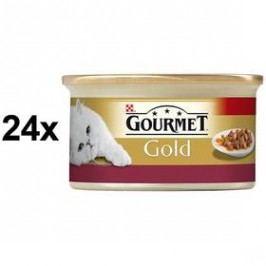 Gourmet Gold s kuřecím a játry 24 x 85g