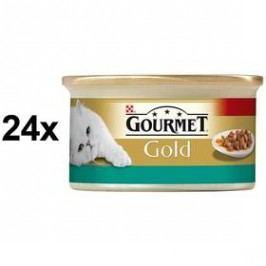 Gourmet Gold s lososem a kuřecím 24 x 85g