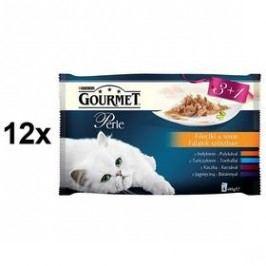 Gourmet Perle mini filetky ve šťávě Multipack 12 x (3+1 zdarma 85g) Kočky