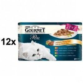 Gourmet Perle Duo masové Multipack 12 x (3+1 zdarma 85g)