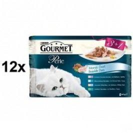 Gourmet Perle Duo rybí Multipack 12 x (3+1 zdarma 85g)