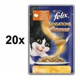 Felix Sensations Sauce Surprise s krůtou v omáčce s příchutí slaniny 20 x 100g