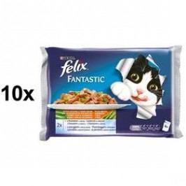 Felix Fantastic výběr z ryb se zeleninou 10 x (4 x 100g)