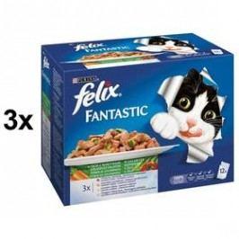 Felix Fantastic výběr se zeleninou 3 x (12 x 100g)