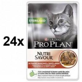 Purina Pro Plan CAT STERILISED Hovězí 24 x 85g