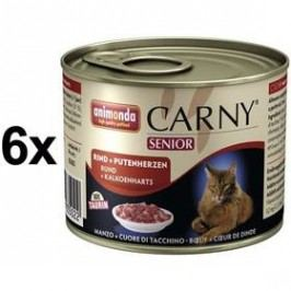 Animonda Carny Senior hovězí + krůtí srdce 6 x 200g
