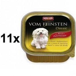 Animonda Vom Feinsten Classic hovězí + krůtí srdce 11 x 150g