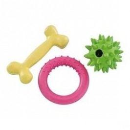 Nobby Gumový startovací set pro štěně žlutá/zelená/růžová