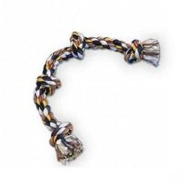 Nobby Bavlněné lano 4x uzel 260g černá/bílá/žlutá
