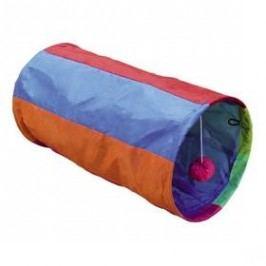 Nobby Rainbow šustivý tunel 25x50cm fialová/oranžová