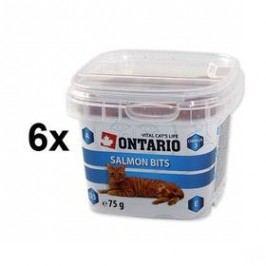 Ontario Snack Salmon Bits 6 x 75g