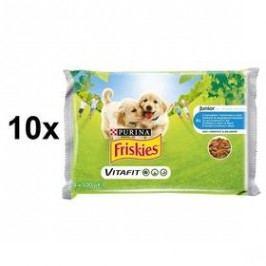 FRISKIES Junior s kuřetem a mrkví ve šťávě 10 x (4 x 100g)