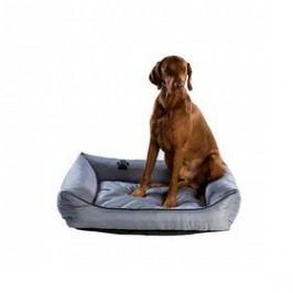 Argi pro psa obdélníkový - 70x55 cm / snímatelný potah šedý