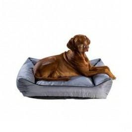Argi pro psa obdélníkový - 90x70 cm / snímatelný potah šedý