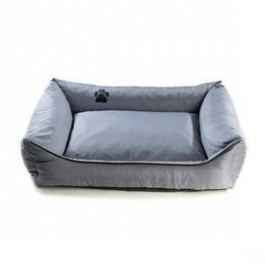 Argi pro psa obdélníkový - 100x80 cm / snímatelný potah šedý