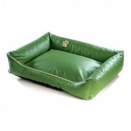 Argi pro psa obdélníkový EKO kůže - 90x70 cm / snímatelný potah zelený