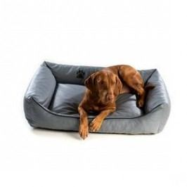 Argi pro psa obdélníkový EKO kůže - 70x55 cm / snímatelný potah šedý