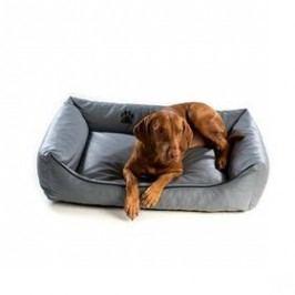 Argi pro psa obdélníkový EKO kůže - 80x65 cm / snímatelný potah šedý