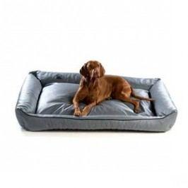 Argi pro psa obdélníkový EKO kůže - 100x80 cm / snímatelný potah šedý