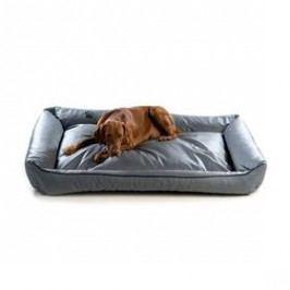 Argi pro psa obdélníkový EKO kůže - 150x115 cm / snímatelný potah šedý