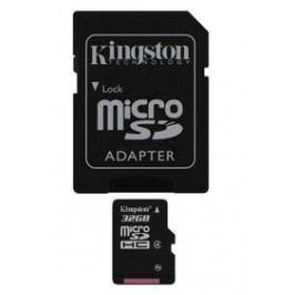 Kingston MicroSDHC 32GB Class4  + adapter (SDC4/32GB)