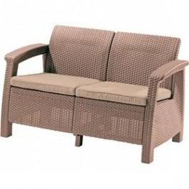 Allibert Corfu Love Seat cappuccino